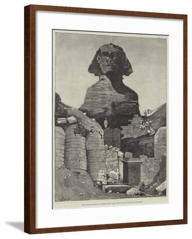 The Egyptian Sphinx at Ghizeh, Near Cairo, with the Excavations in Progress--Framed Art Print