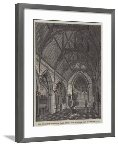 New Church in Tottenham Park, Wilts, View from the West End of the Nave--Framed Art Print