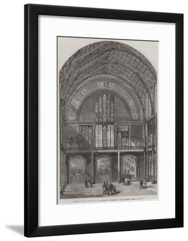 Opening of the International Exhibition, Entrance to the Western Annexe--Framed Art Print