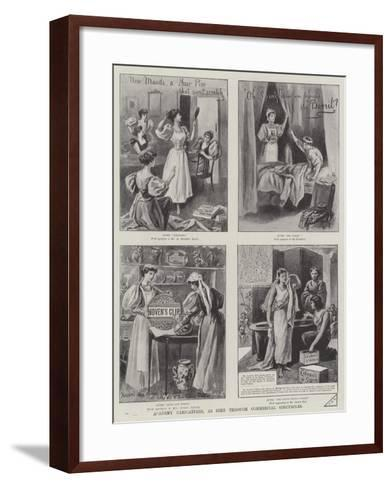 Advertisement, Academy Caricatures, as Seen Through Commercial Spectacles--Framed Art Print