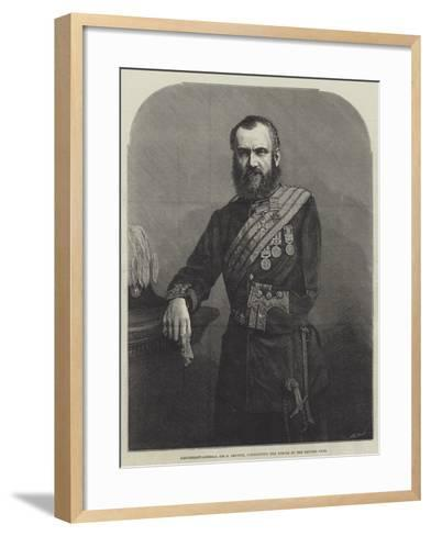Lieutenant-General Sir S Browne, Commanding the Forces in the Khyber Pass--Framed Art Print