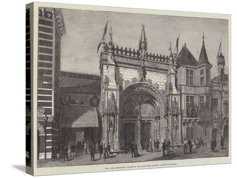 The Paris Exhibition, Facade of the Portuguese Section, Avenue of Nations--Stretched Canvas Print