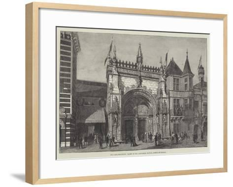 The Paris Exhibition, Facade of the Portuguese Section, Avenue of Nations--Framed Art Print