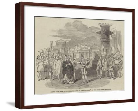 Scene from the New Extravaganza of The Sphinx, at the Haymarket Theatre--Framed Art Print