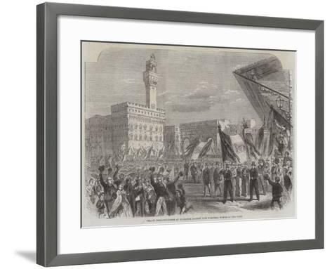 Trades Demonstration at Florence Against the Temporal Power of the Pope--Framed Art Print
