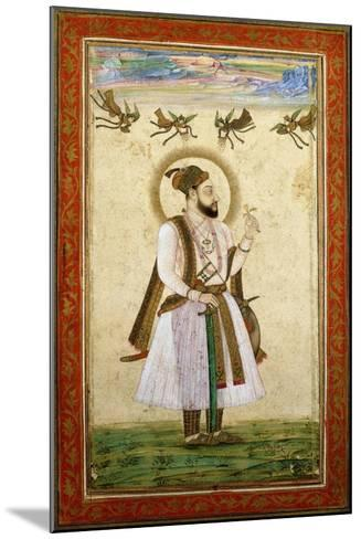 Portrait of Muhammad 'Adil Shah Ii, C.1650 (W/C and Gold Paint on Paper)--Mounted Giclee Print