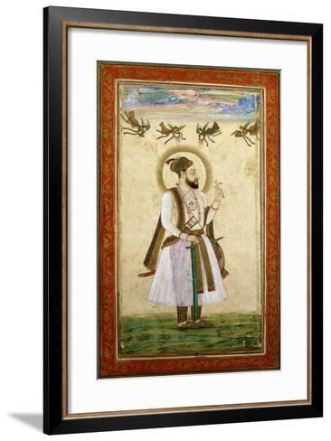 Portrait of Muhammad 'Adil Shah Ii, C.1650 (W/C and Gold Paint on Paper)--Framed Art Print