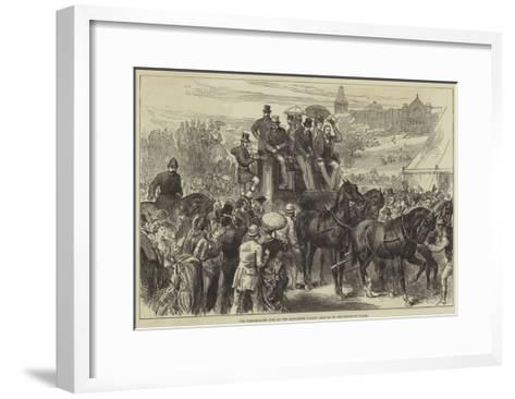 The Four-In-Hand Club at the Alexandra Palace, Arrival of the Prince of Wales--Framed Art Print