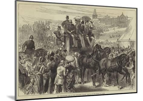 The Four-In-Hand Club at the Alexandra Palace, Arrival of the Prince of Wales--Mounted Giclee Print