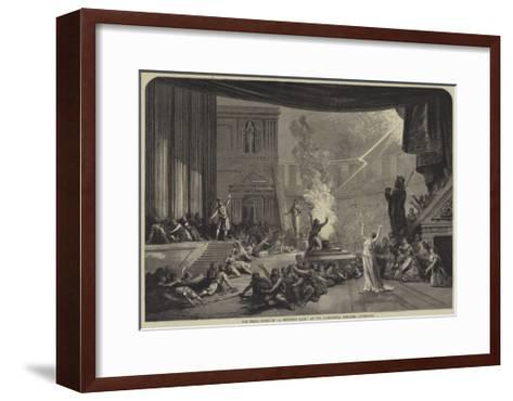 The Trial Scene in A Winter's Tale, at the Alexandra Theatre, Liverpool--Framed Art Print