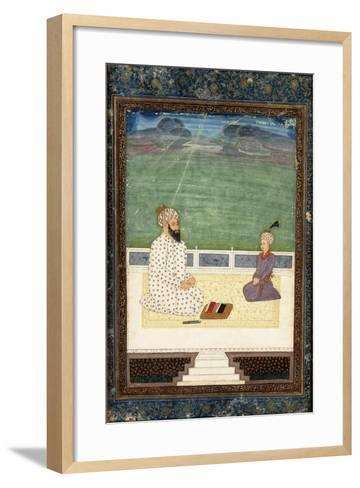 A Mullah and a Pupil, 18th Century (Gouache Heightened with Gold, on Paper)--Framed Art Print