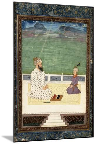 A Mullah and a Pupil, 18th Century (Gouache Heightened with Gold, on Paper)--Mounted Giclee Print