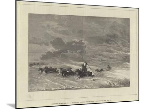 Sketches in Central Asia, a Horse-Herd Seeking Shelter from a Snowstorm--Mounted Giclee Print