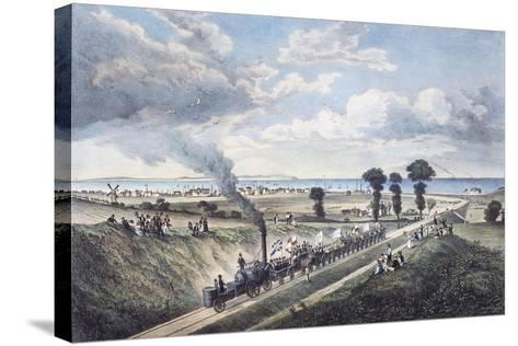 Inauguration of the Canterbury-Whitstable Line, May 3, 1830, England, United Kingdom, 19th Century--Stretched Canvas Print