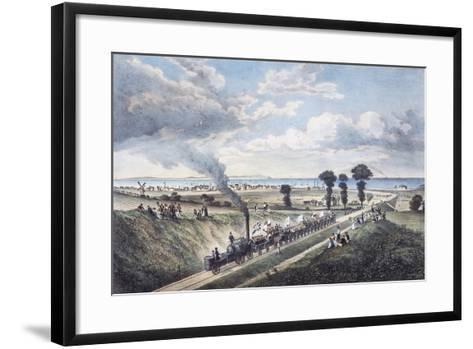 Inauguration of the Canterbury-Whitstable Line, May 3, 1830, England, United Kingdom, 19th Century--Framed Art Print