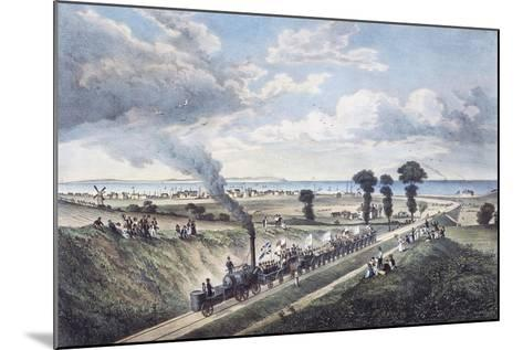 Inauguration of the Canterbury-Whitstable Line, May 3, 1830, England, United Kingdom, 19th Century--Mounted Giclee Print