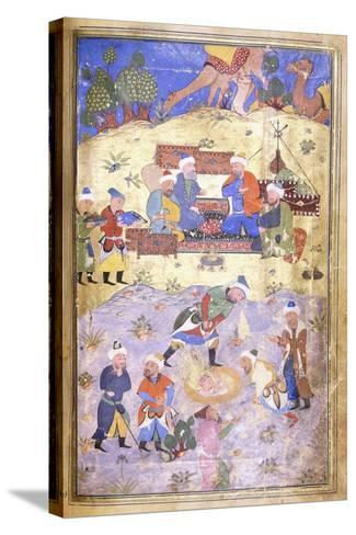 Yusuf Being Rescued from the Pit, C.1492-3 (Illuminated Manuscript on Paper)--Stretched Canvas Print