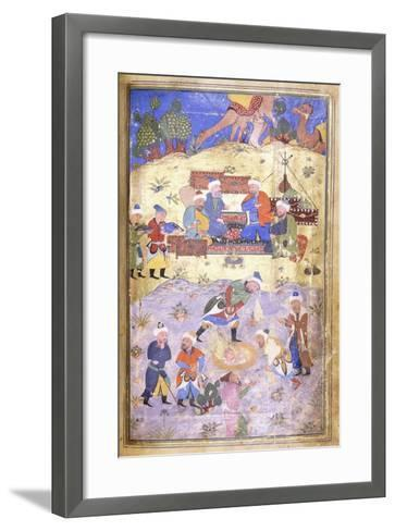Yusuf Being Rescued from the Pit, C.1492-3 (Illuminated Manuscript on Paper)--Framed Art Print