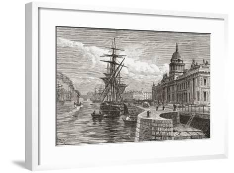 The Custom House, Dublin, Ireland in the 19th Century. from Cities of the World, Published C.1893--Framed Art Print