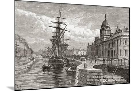 The Custom House, Dublin, Ireland in the 19th Century. from Cities of the World, Published C.1893--Mounted Giclee Print