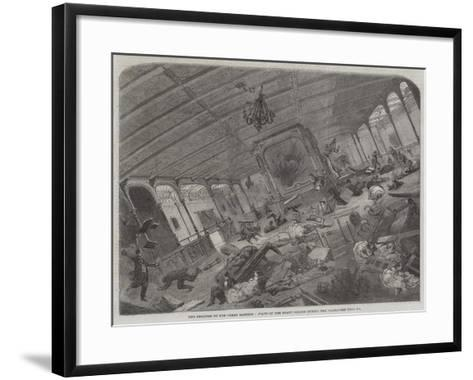 The Disaster to the Great Eastern, State of Her Grand Saloon During the Gale--Framed Art Print