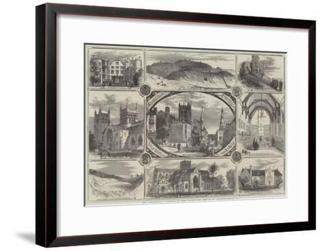 The Archaeological Institute of Great Britain and Ireland at Dorchester--Framed Art Print