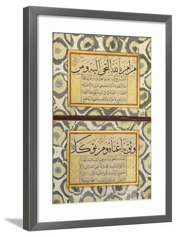 An Album of Calligraphy (Muraqqa), Ottoman, 19th Century (Manuscript on Card)--Framed Art Print