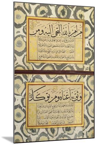 An Album of Calligraphy (Muraqqa), Ottoman, 19th Century (Manuscript on Card)--Mounted Giclee Print