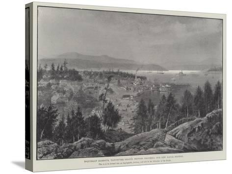 Esquimalt Harbour, Vancouver Island, British Columbia, Our New Naval Station--Stretched Canvas Print