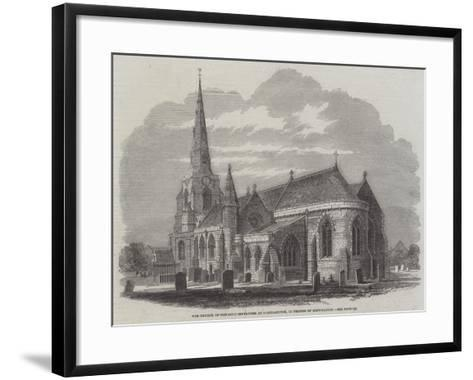 The Church of the Holy Sepulchre at Northampton, in Process of Restoration--Framed Art Print