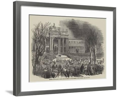 Return of the Pope to Rome, the Procession at the Church of San Giovanni--Framed Art Print