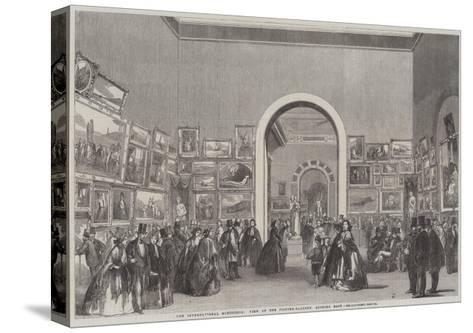 The International Exhibition, View of the Picture-Gallery, Looking East--Stretched Canvas Print