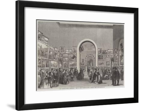 The International Exhibition, View of the Picture-Gallery, Looking East--Framed Art Print