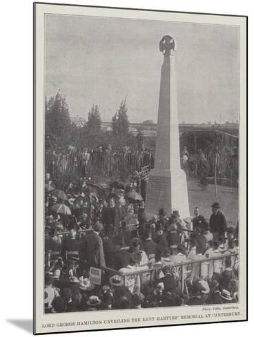 Lord George Hamilton Unveiling the Kent Martyrs' Memorial at Canterbury--Mounted Giclee Print