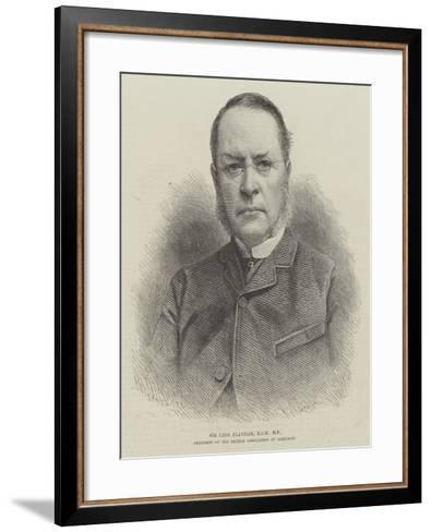 Sir Lyon Playfair, Kcb, Mp, President of the British Association at Aberdeen--Framed Art Print