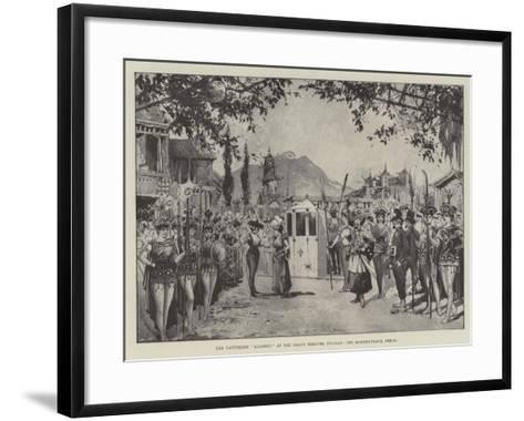 The Pantomime Aladdin, at the Grand Theatre, Fulham, the Market-Place, Pekin--Framed Art Print