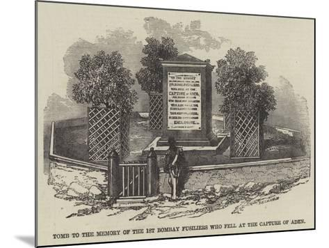 Tomb to the Memory of the 1st Bombay Fusiliers Who Fell at the Capture of Aden--Mounted Giclee Print