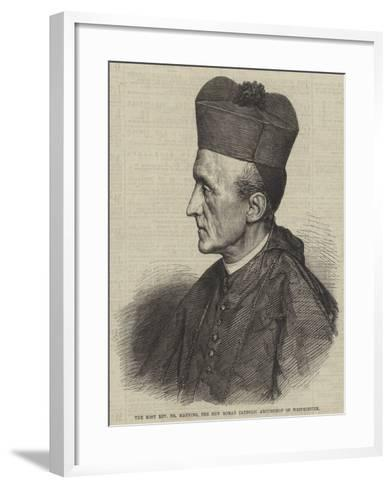 The Most Reverend Dr Manning, the New Roman Catholic Archbishop of Westminster--Framed Art Print