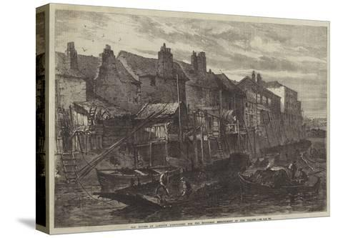 Old Houses at Lambeth Demolished for the Southern Embankment of the Thames--Stretched Canvas Print