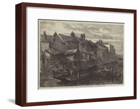 Old Houses at Lambeth Demolished for the Southern Embankment of the Thames--Framed Art Print