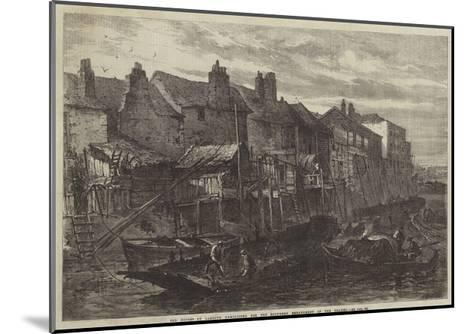 Old Houses at Lambeth Demolished for the Southern Embankment of the Thames--Mounted Giclee Print