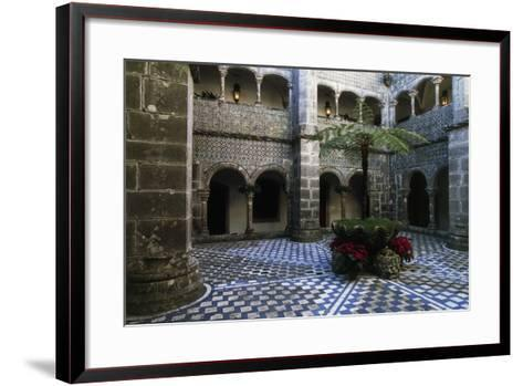 Cloister in Pena National Palace, Sintra (Unesco World Heritage List, 1995), Portugal, 19th Century--Framed Art Print