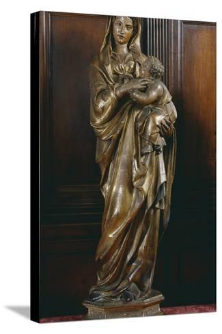 Madonna with Child, by Jacopo Della Quercia (Ca 1372-1438), Italy, 15th Century--Stretched Canvas Print