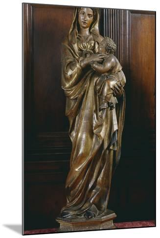 Madonna with Child, by Jacopo Della Quercia (Ca 1372-1438), Italy, 15th Century--Mounted Giclee Print