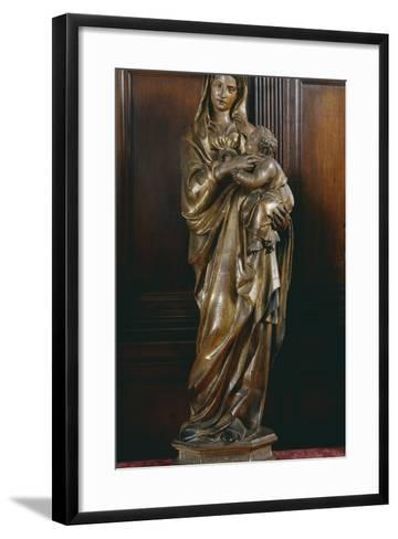 Madonna with Child, by Jacopo Della Quercia (Ca 1372-1438), Italy, 15th Century--Framed Art Print