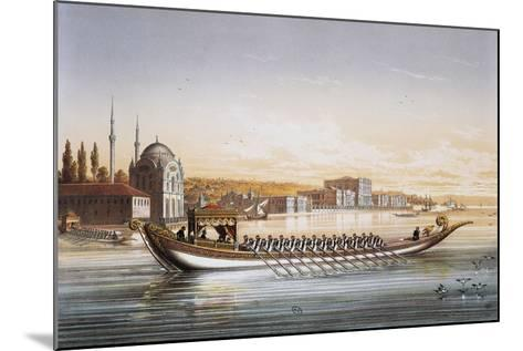 Sultan's Palace and Boats Parade in Turkey in 1855, Print by Lemercier, 19th Century--Mounted Giclee Print