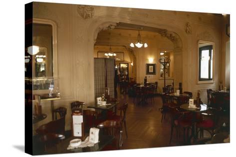Interiors of a Cafe, Cafe Tommaseo, Trieste, Friuli-Venezia Giulia, Italy--Stretched Canvas Print