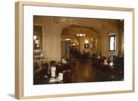 Interiors of a Cafe, Cafe Tommaseo, Trieste, Friuli-Venezia Giulia, Italy--Framed Art Print