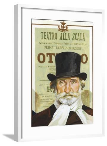 Portrait of Giuseppe Verdi (Roncole Verdi, Busseto 1813-Milan, 1901), Italian Composer--Framed Art Print