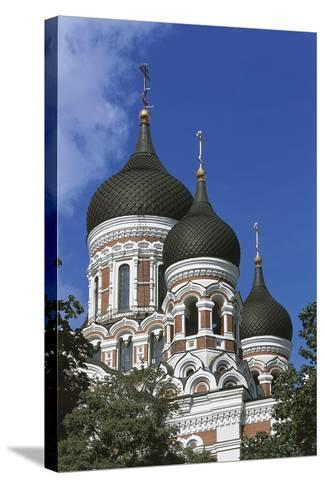 Low Angle View of a Cathedral, Alexander Nevsky Cathedral, Tallinn, Estonia--Stretched Canvas Print